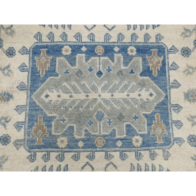 Islamic Kazak Geometric Design Wool Hand-Knotted Rug For Sale - Image 3 of 7