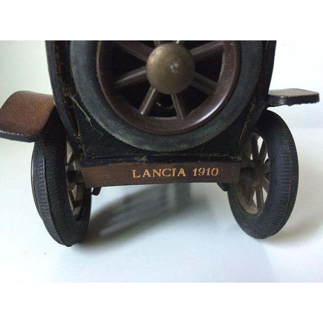 Lancia 1910 Leather Car Model - Image 3 of 5