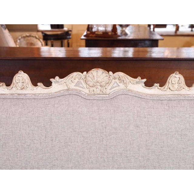 Antique French rococo grissaile Sofa For Sale - Image 4 of 7