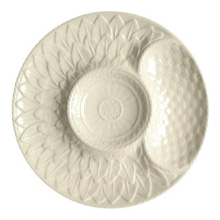 "1970s Secla Cabbage White 9"" Artichoke Plate For Sale"