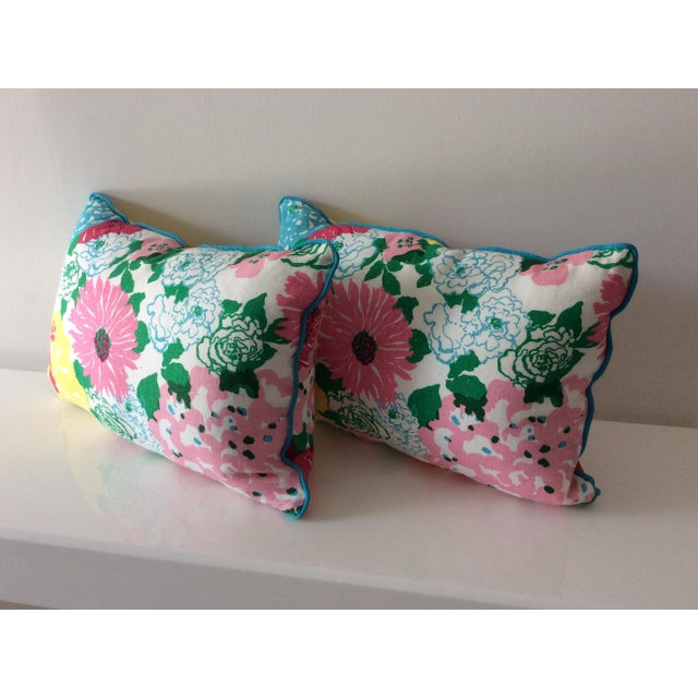 Cottage Style Handmade Floral Pillows - a Pair For Sale In Miami - Image 6 of 11