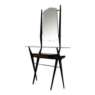 1950s Italian Sculptural Console & Mirror - 2 Pieces For Sale