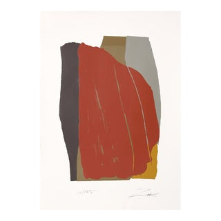Odon I, Colorful Abstract Serigraph by Larry Zox