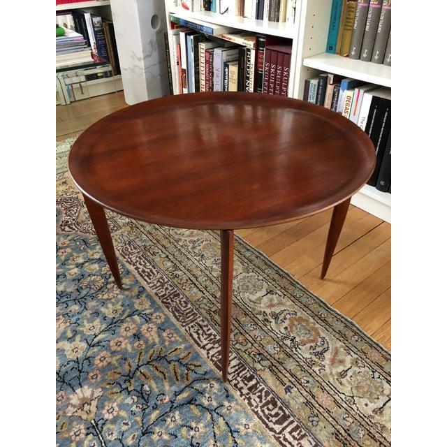 1960s Fritz Hansen Mid-Century Teak Tray Folding Table For Sale - Image 5 of 7