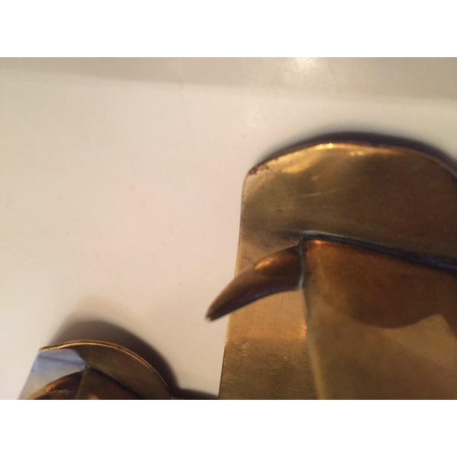1930s Hagenauer Signed Schnauzer Brass Bookends - a Pair For Sale - Image 5 of 7