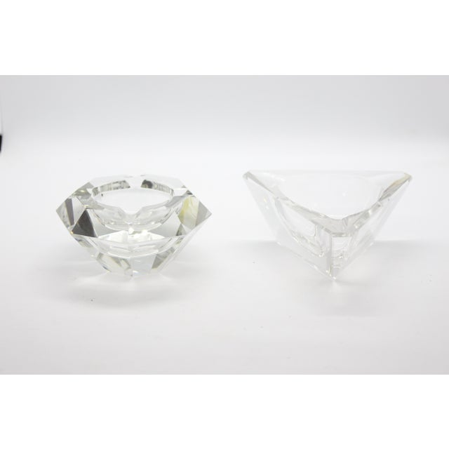 Geometric Lead Crystal Ashtrays - A Pair For Sale In Los Angeles - Image 6 of 11