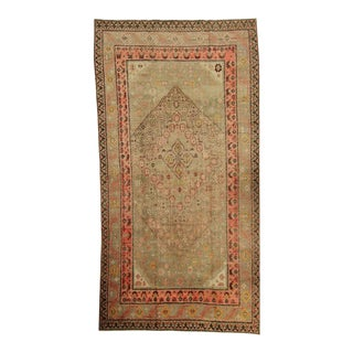 1920s East Turkistan Samarkand Woven Wool Rug For Sale