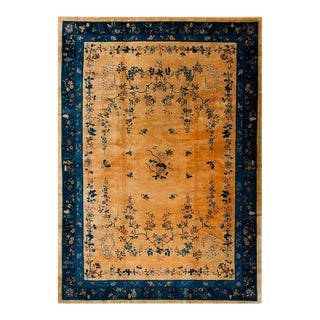 """Antique Art Deco Chinese Rug 12'2"""" X 17'4"""" For Sale"""