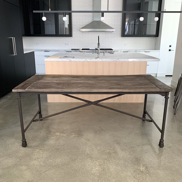 Restoration Hardware Flatiron Dining Table For Sale - Image 10 of 10