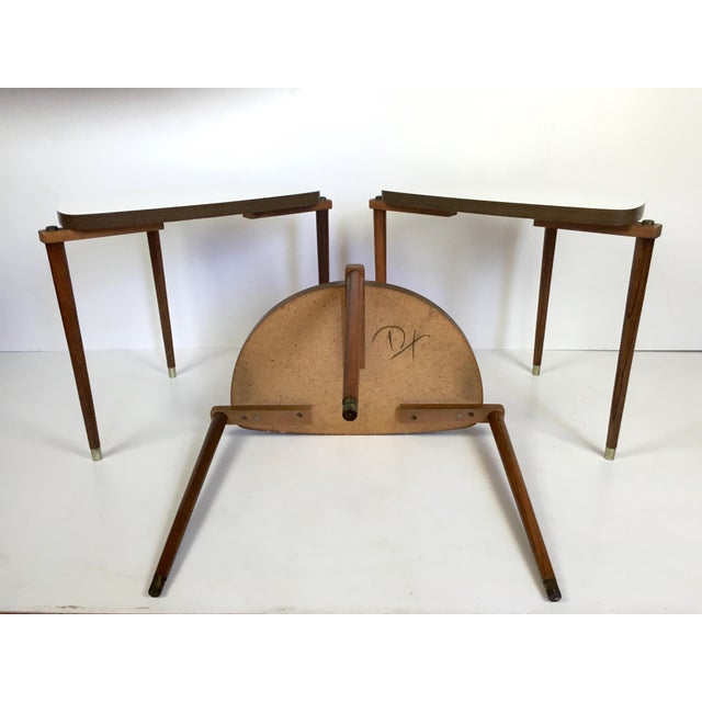 Gold Mid-Century Modern Nesting Tables Half Moon - S/3 For Sale - Image 8 of 8