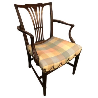 18th Century Sheridan Armchair With Slanted Seat For Sale