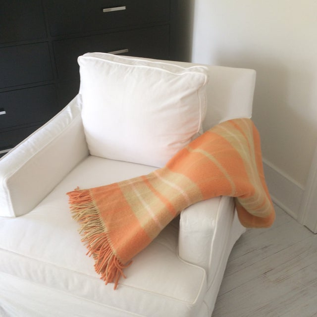 Orange Wool Blanket from London - Image 5 of 8