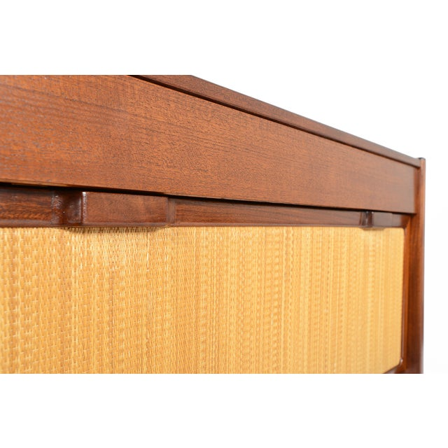 Danish Modern Teak and Grasscloth Entry Chest - Image 10 of 10