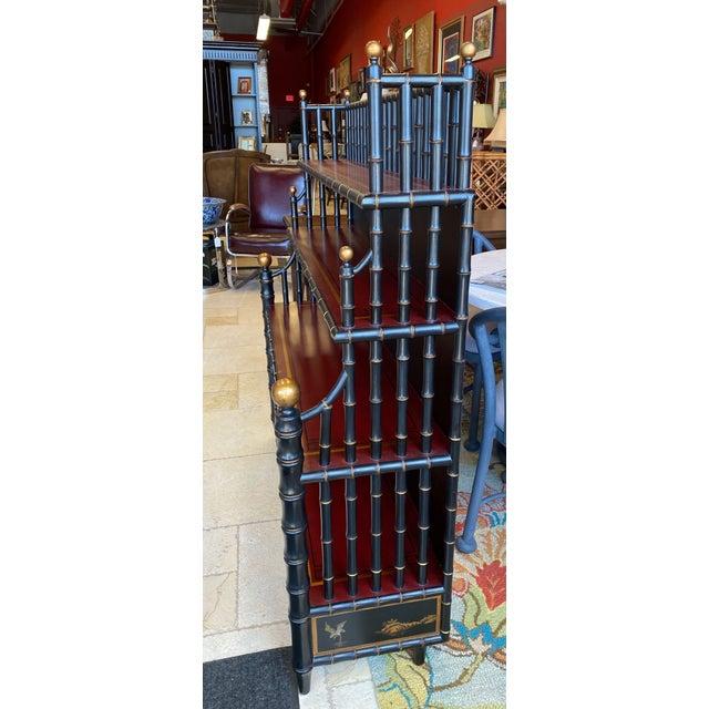 Chinoiserie Chinoiserie Mario Buatta Widdicomb Waterfall Bookcase For Sale - Image 3 of 12