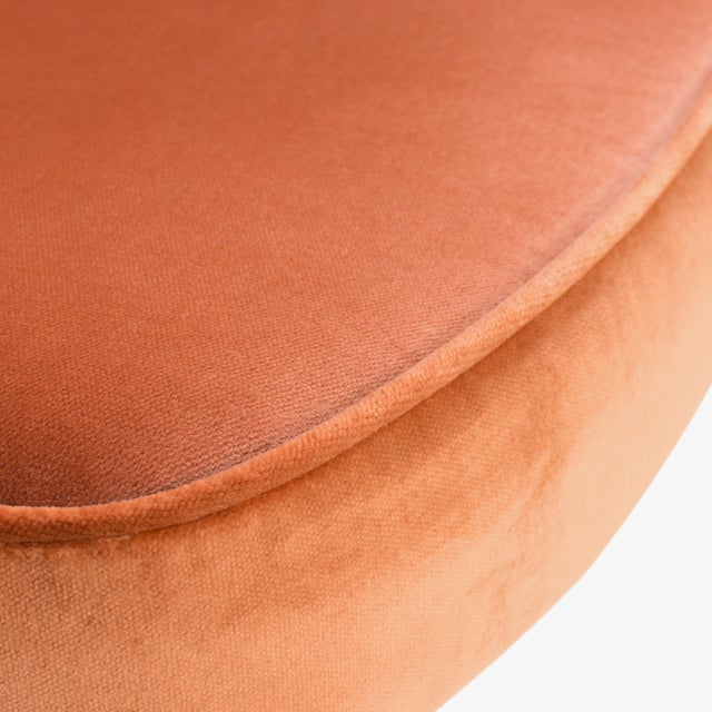 Metal Saarinen Executive Arm Chairs in Rust Velvet, 24k Gold Edition For Sale - Image 7 of 8