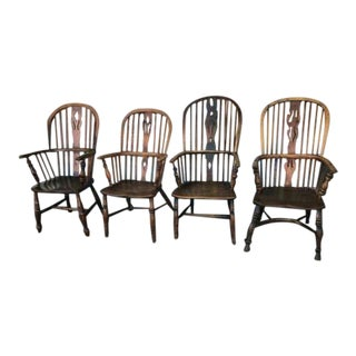 Late 19th Century Windsor Chairs - Set of 4 For Sale