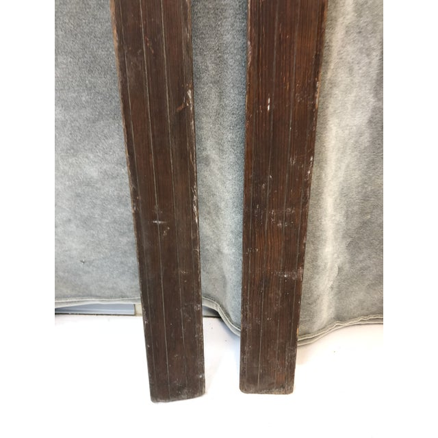 Americana Vintage Rustic Wood Skis - a Pair For Sale - Image 3 of 13