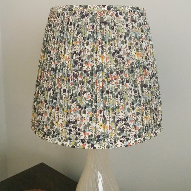 Pleated Floral Lamp Shade, Liberty London Fabric For Sale - Image 4 of 6
