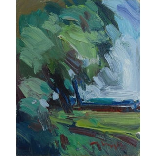 """""""Tree"""" Contemporary Landscape Oil Painting by Jose Trujillo For Sale"""