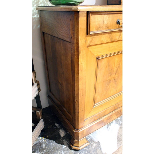 Incredible Louis Phillipe two drawer, two door buffet cabinet. Great patina. Cherrywood.