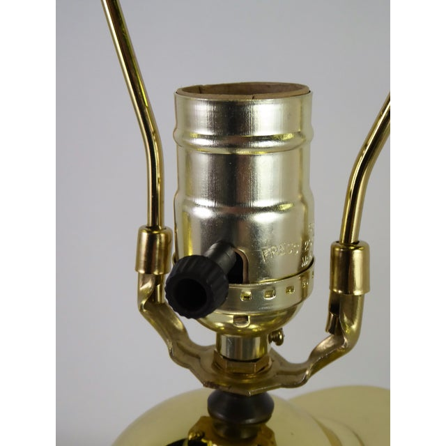 1940s Vintage Modern Brass and Wire Saturn Table Lamps- A Pair For Sale In Miami - Image 6 of 13