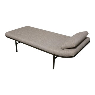 Mid-Century Modern Jules Heumann for Metropolitan Furniture Bronze Frame Chaise