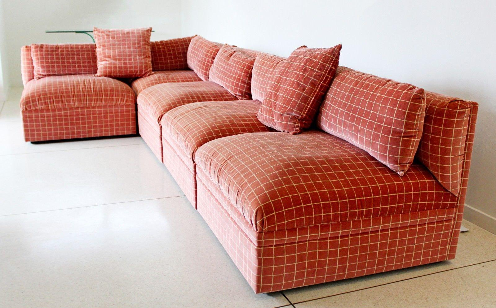 Mid Century Modern Large Baughman Directional 9 Piece Sectional Sofa 1970s    Image 8 Of 11