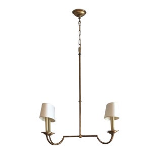 e.f. Chapman Flemish Small Linear Chandelier For Sale