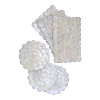 Capiz Shell Scalloped Placemats - Set of 6 For Sale