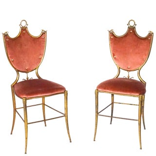20th Century Italian Neoclassical Style Chairs - a Pair For Sale