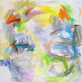 """""""Caribbean Calm"""" by Trixie Pitts Large Abstract Oil Painting For Sale"""