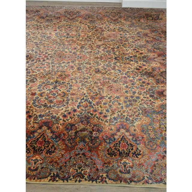 1970s Karastan 10'x16' Kirman Vintage Large Room Size Carpet Rug #759 For Sale - Image 5 of 13
