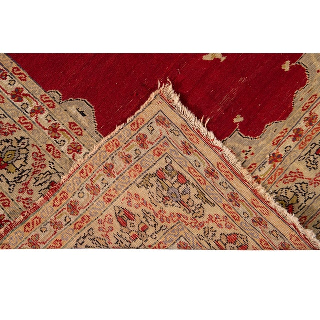 Antique Persian Kerman Rug 3'6'' X 5'2'' For Sale - Image 4 of 13