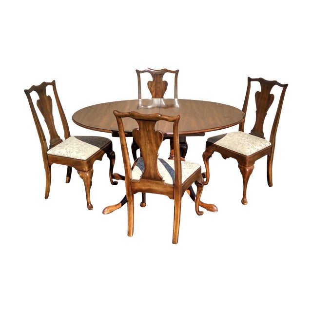 1970s Vintage Solid Cherry Dining Set - Image 1 of 6