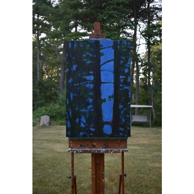 """""""Blue Punctuation"""" Abstract Painting For Sale - Image 9 of 10"""