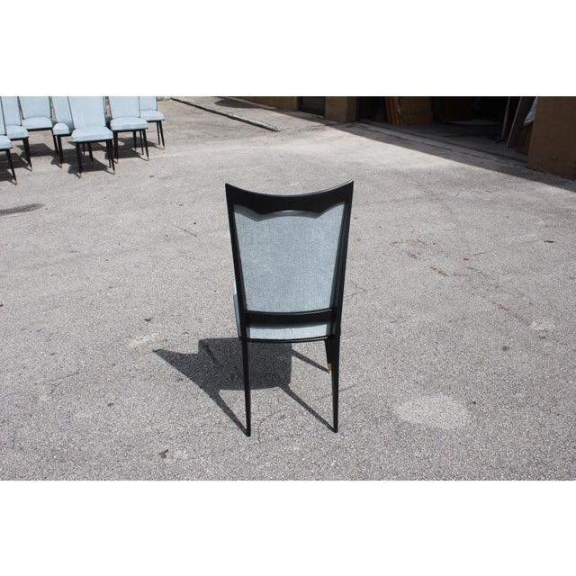 Monumental Set of 12 French Art Deco Dining Chairs, Circa 1940s For Sale - Image 10 of 13
