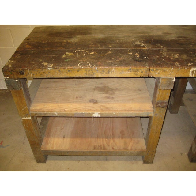 1900s Industrial Railroad Work Bench For Sale - Image 9 of 13