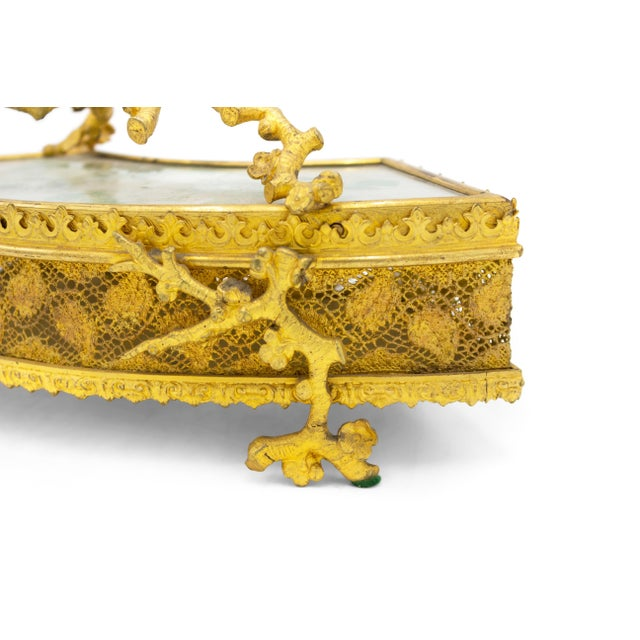 French Victorian Bronze Dore Fan Box For Sale In New York - Image 6 of 8