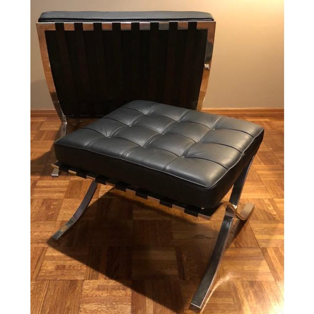 Barcelona Mies Van Der Rohe Pavilion Chair & Ottoman For Sale - Image 6 of 10