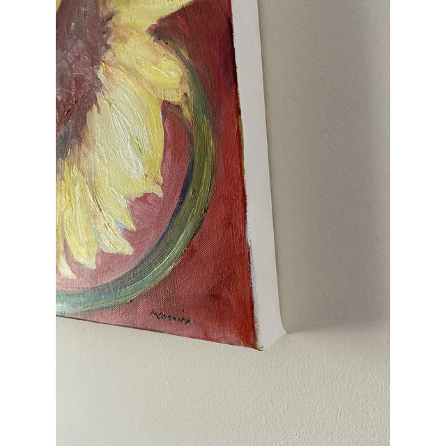 2020s Contemporary Sunflower Still Life Oil Painting by Marina Movshina For Sale - Image 5 of 6