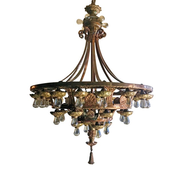 Late 20th Century Beaux Arts Style Chandelier For Sale