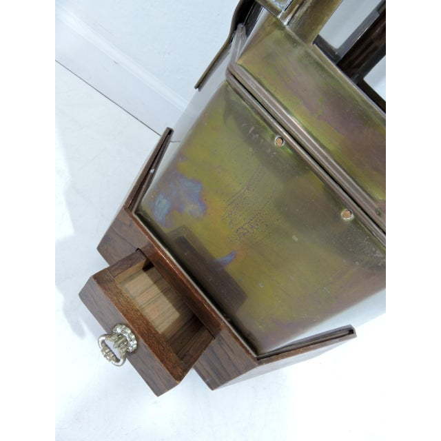 Vintage Chinese Hawkers Brass Food Cart With Stand For Sale In Tampa - Image 6 of 6