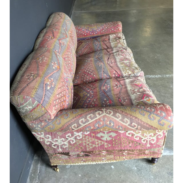 2000 - 2009 George Smith Roll Arm Kilim Sofa For Sale - Image 5 of 8