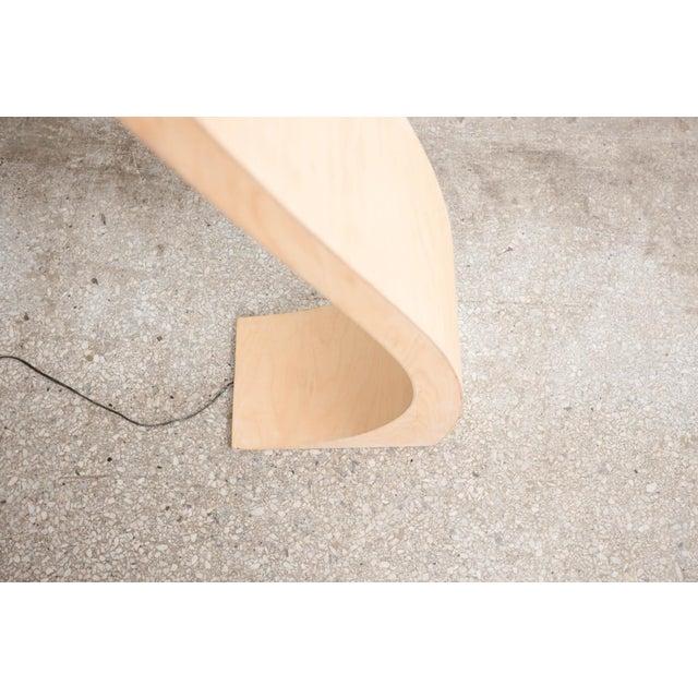 Metal Milo Baughman Bentwood Floor Lamp For Sale - Image 7 of 8