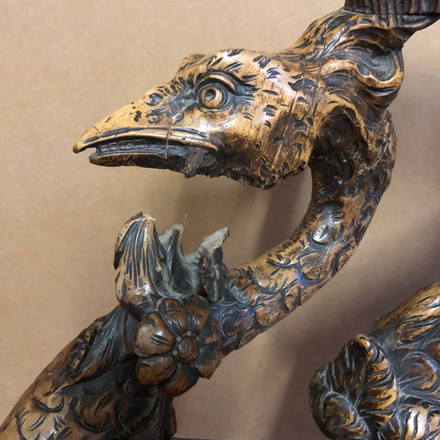Late 19th Century 19th Century Venetian Hand Carved Swan Grotto Chair For Sale - Image 5 of 13