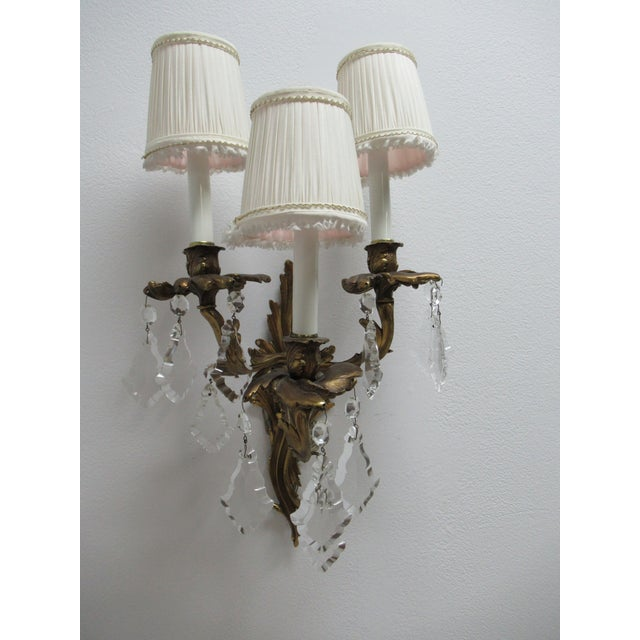 Vintage Chapman Brass French Regency Wall Sconces - a Pair For Sale - Image 10 of 12