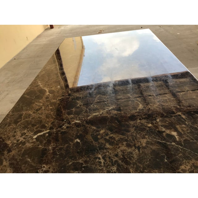 Maurice Villency Maurice Villency Style Marble Dining Table For Sale - Image 4 of 13