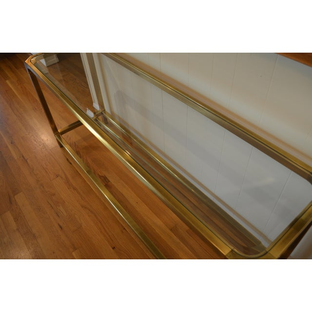 Mastercraft Hollywood Regency Brass Console/Sofa Table - Image 3 of 7