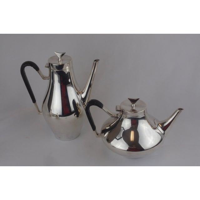 John Prip for Reed & Barton Denmark Modernist Coffee Tea Set - Image 3 of 10