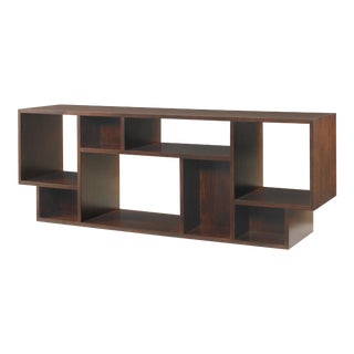 Century Furniture Paragon Club Geometric Entertainment Bookcase For Sale